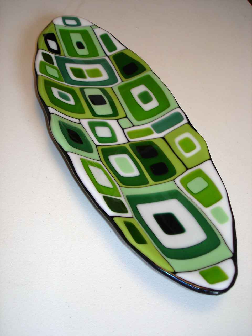 Green Geo Oblong Dish